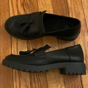 Chunky Black Loafers